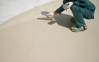 オーバーレイスタンプ用特殊樹脂モルタル打設